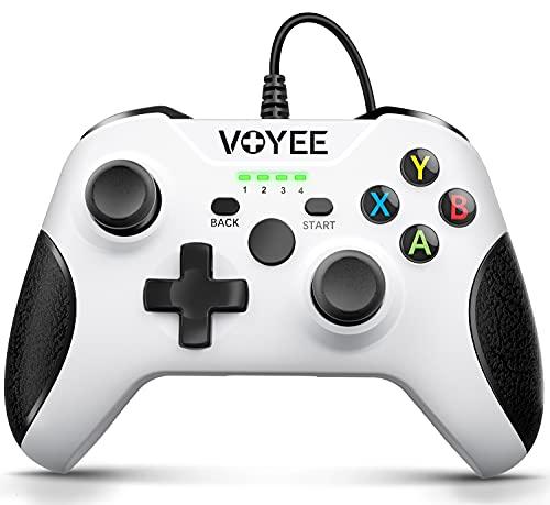 Controlador de Xbox One, VOYEE diseñado controlador con cable mejorado para Microsoft Xbox One/X/S/Elite