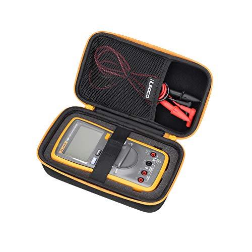 RLSOCO caso para el Multímetro Digital Crenova/FlePow/Aidbucks/Tacklife DM08 /Mastech/Proster/Fluke 233/117/116/115/114/113/103 Multímetro y más (Cremallera amarilla)