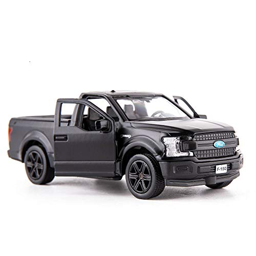 TGRCM-CZ 1/36 Scale F150 Pickup Truck Casting Car Model, Zinc Alloy Toy Car for Kids, Pull Back Vehicles Toy Car for Toddlers Kids Boys Girls (Black)