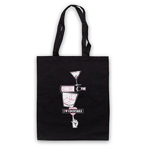 My Icon Art & Clothing I Love Cocktails Slogan Style - Bolsa...