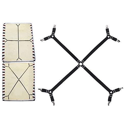 Emmala 3-weg verstelbare lakenspanner bedlakenspanner bedlakenspanner Criss Cross unicaat hoeslakenhouder onder matras bedbanden