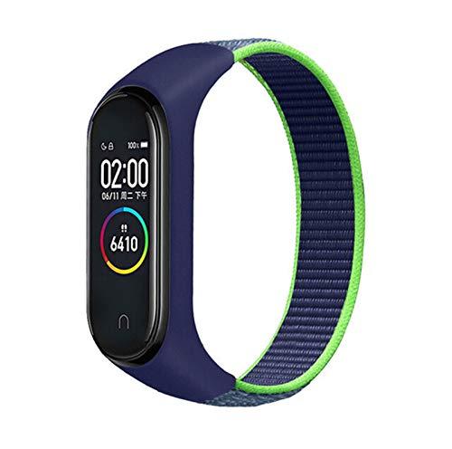 OUBALA Sport Armbanduhr Armband (Band Color : 22 Neon Lime, Size : for MiBand 4 3)