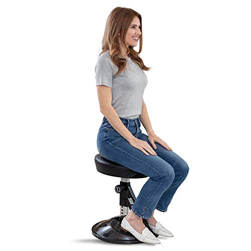 Sit 360 Adjustable Wobble Stool Office Desk Balance Chair with Footrests  Rocks Wobbles amp Engages Muscles to Improve Posture Strengthen Body Tone Core Relieve Back Pain Workout While Sitting
