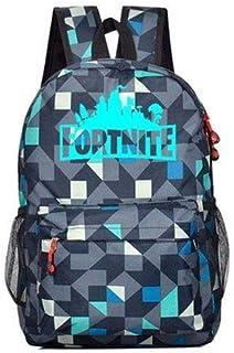 حقيبة ظهر لعبة باتل رويال من فورتنايت - حقائب فورتنايت المدرسية المضيئة - اسود وبرق ابيض