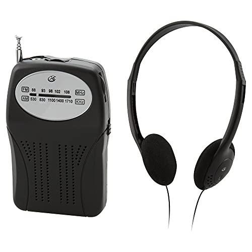 GPX Portable AM/FM Radio, Black (R116B)