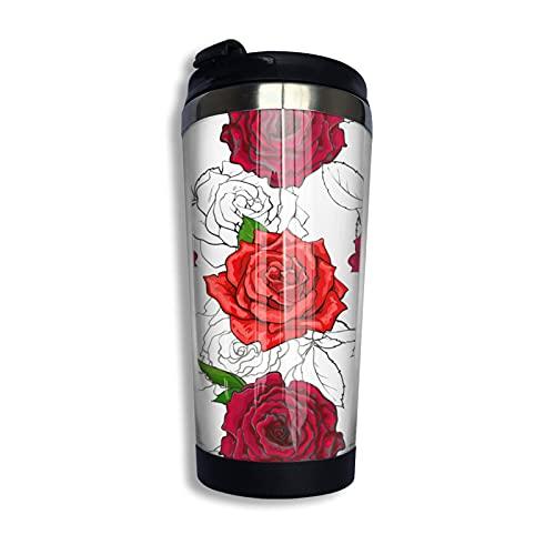 Hintergrundbild Blumen 304 Edelstahl Kaffeetasse speziell für die perfekte Reise Kaffeetasse