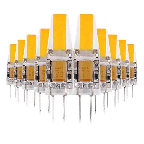 ALBN Lampadine a LED 10x G4 3W COB, Lampada bi-Pin a LED AC / DC12-24V 4000K 300LM, Sostituzione lampade alogene 25W, Non dimmerabili, Angolo a 360 Gradi, Lampadina a riflettore in Cristallo