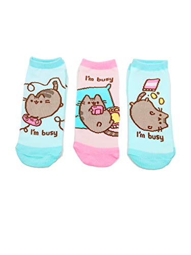 Pusheen The Cat I'm Busy 3 Pack Women's Ankle Socks