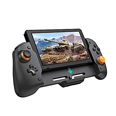Wireless Controller for Nintendo Switch, Ergonomic Controller for Nintendo Switch with Gravity Induction of Six-Axis Gyroscope, Double Motor Vibration and Screen Capture Button from ECHZOVE