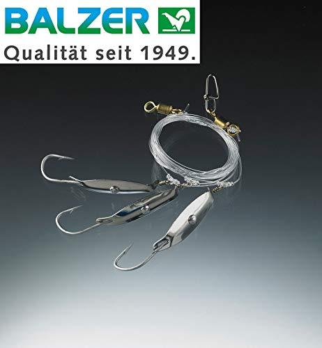 Balzer 71 North Dorschblinker System 2,10m 0,80mm - Meeresvorfach zum Dorschangeln, Meeressystem zum Angeln auf Dorsche, Dorschrig
