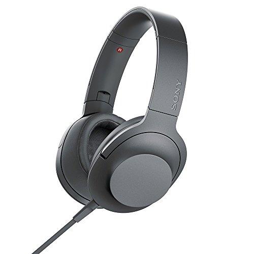ソニー ヘッドホン h.ear on 2 MDR-H600A : ハイレゾ対応 密閉型 リモコン・マイク付き 2017年モデル 360 Reality Audio認定モデル グレイッシュブラック MDR-H600A B