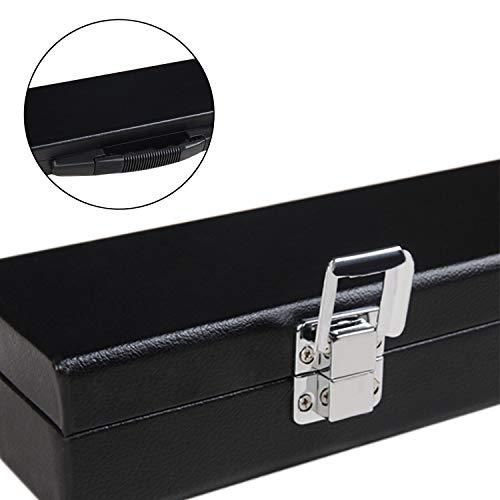 AONETIGER® Billard Queue Koffer 3/4 122cm für Snooker und Pool Stabiler Tragegriff und Weichem Innenfutter