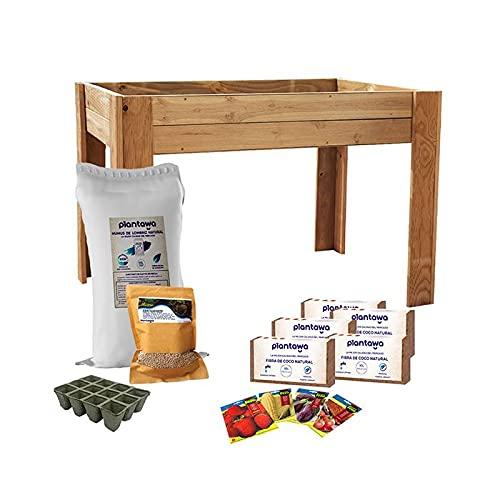 Kit de Cultivo Completo XL, Kit de Cultivo con Mesa de Cultivo XL 80 x 80 x 120 cm, Kit Autocultivo de Iniciación para Jardín