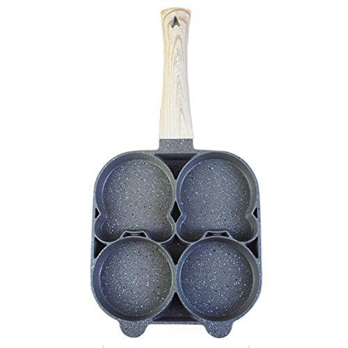 Liwanzenpfanne, 4 Rillen Eierpfanne Augenpfanne Spiegelei-pfanne Multiple Pförtchenpfanne Spiegeleipfanne Für Eier, Kartoffelpuffer, Eierburger