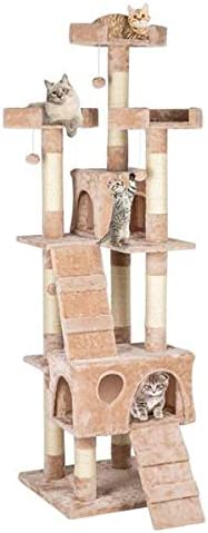 Cat Tree with Sisal-Covered Posts Arlington Mall Award Scratching Tower Con