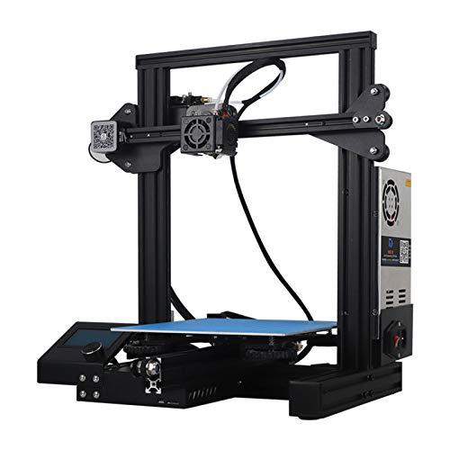 WUAZ Imprimante 3D Aluminium Half Assemblé Kit De Bricolage avec Impression Taille 220 * 220 * 250Mm
