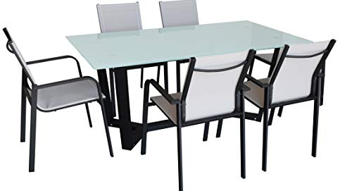 Jet-line Gartenset Sitzgruppe Essgruppe Outdoor Gartenmöbel Dining Set Zeus Anthrazit Neu