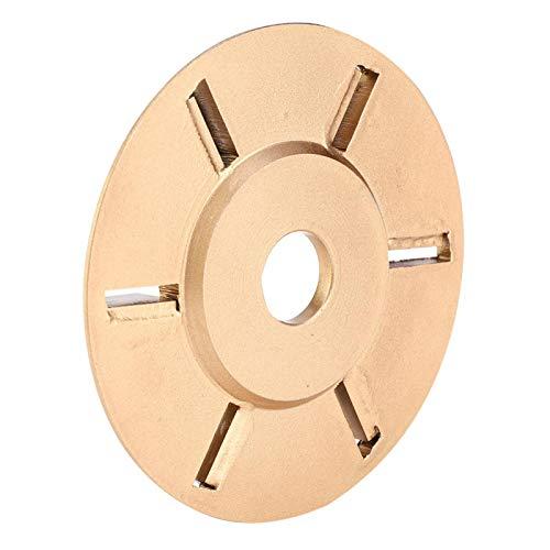 Disco para tallar madera, disco para tallar de 6 dientes, fácil de instalar, conveniente, de alta eficiencia de corte, accesorio de amoladora angular, para tallar madera para trabajar la