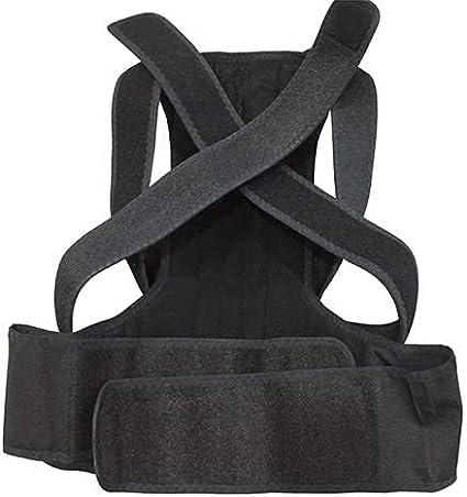 Corrector de postura Terapia ortopédica de doble tracción ajustable Corrector de postura Brace Hombro Espalda Columna vertebral Placa de acero Almohadilla de soporte Cinturón para hombres Mujeres