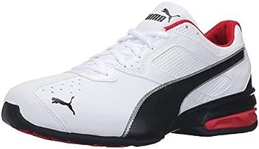 PUMA Men's Tazon 6 FM Puma White/ Puma Black/ Puma Silver Running Shoe - 12 D(M) US