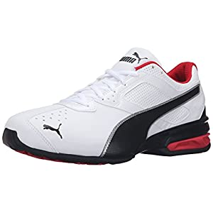 PUMA Men's Tazon 6 FM Puma White/ Puma Black/ Puma Silver Running Shoe - 10 D(M) US