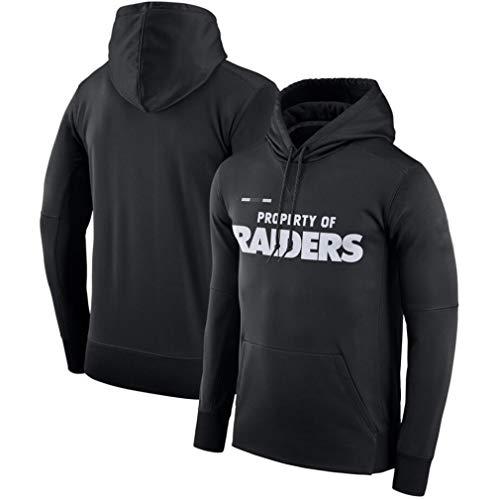 FMSports Hombres NFL Sudaderas - Informal De Fútbol Americano con Capucha Oakland Raiders 3D Camiseta del Logotipo Sudadera Pulóver Equipo,M~165~170CM