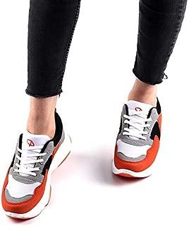 Darkstep 102 Turuncu Günlük Kalın Taban Bayan Spor Ayakkabı