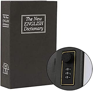Secret Book Safe with Combination Lock,Dictionary Diversion Hidden Book Portable Safe Box, for Storing Money,Jewelry and P...