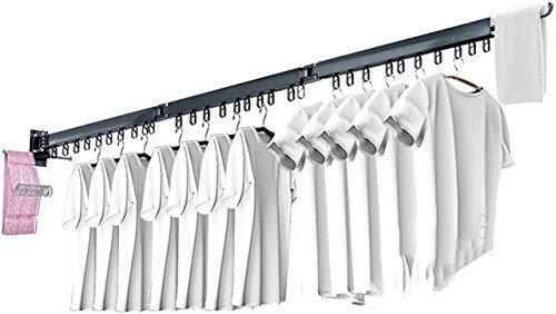 Tendedero para ropa con calefacción eléctrica, tendedero extensible montado en la pared,...