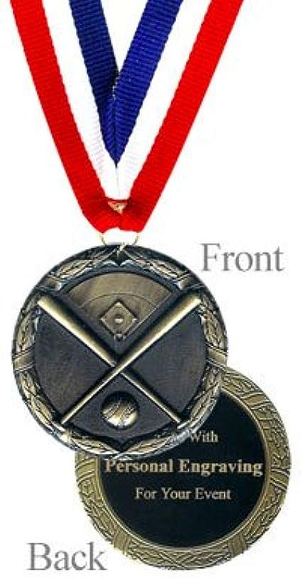 QuickTrophy Baseball Medal - Engraved