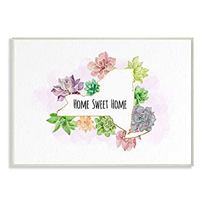 The Stupell Home Decor Collection New York State Home Sweet Home Succulent