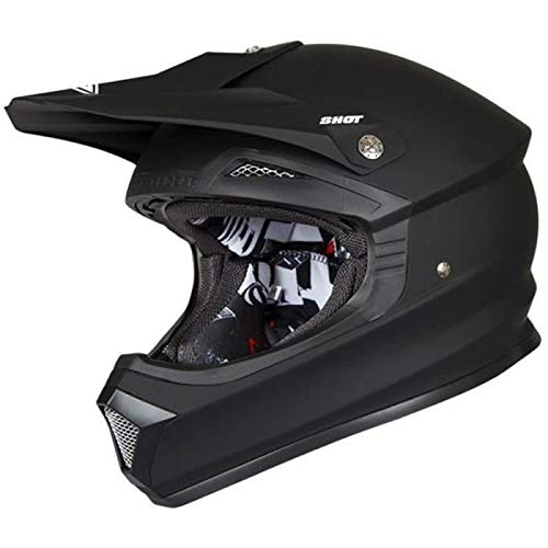 SHOT Motocrosshelm Furious schwarz matt XXL 63–64cm–XXL 63–64cm