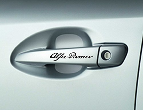 Alfa Romoe x 6-Set di maniglie per porte di alta qualità con decalcomanie Sticker adesivi auto