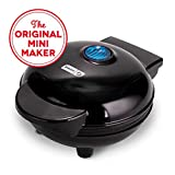 Dash Maker: Mini Round, Electric Griddle Machine for Individual Pancakes, Cookies, Eggs & other on the go Breakfast, Lunch, Snacks with Indicator Light, Black