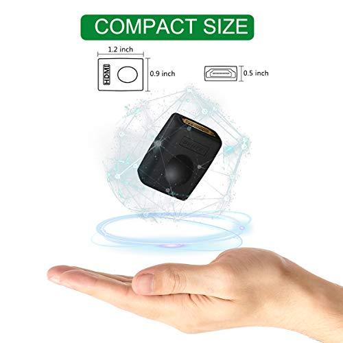 BENFEI HDMI Kupplung, 2 Stück HDMI Buchse auf Buchse, zur Verlängerung von HDMI Geräten Adapter Verbinder 3D 4K Vergoldete