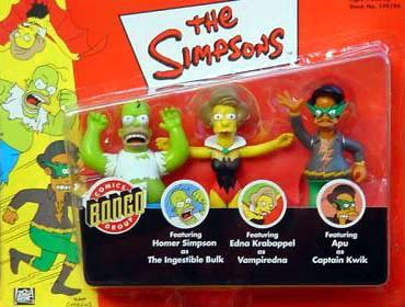 """Simpsons 3 Pack w/ Homer As the Ingestible Bulk, Vampiredna,& Apu As Captain Quick"""" Kaybee Exclusive"""