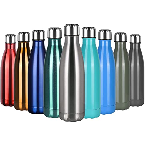 Flintronic Portatile Borraccia, 500ML Termica Bottiglia Acciaio Inox Bottiglia Acqua d'Acqua Sportive Coppa da Viaggio con Spazzola per Scuola, All'aperto, Yoga, Palestra (Mantenere Caldo/Freddo)