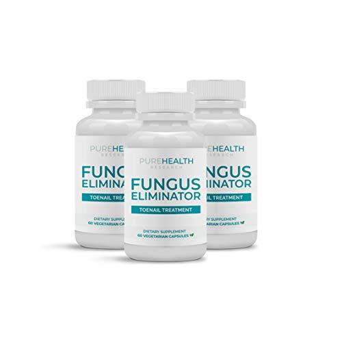 Fungus Eliminator Toenail Care Formula By PureHealth Research, Manufactured In USA, Effective Fingernail & Toenail Health Care Solution, 3 Bottle