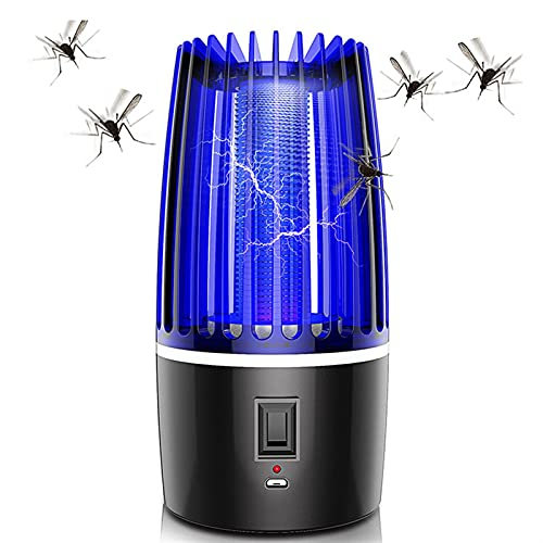 Mosquito Killer Lamp Rechargeable Portable Electric LED Mosquito Insect Killer Lamp Fly Bug Repellent Anti Mosquito Trap UV Night Light Bug Repellent ( Color : USB 2000mA , Emitting Color : 1 Pc )