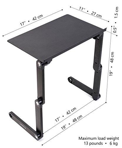 Lavolta Ergonomischer Laptop-Ständer/Frühstückstablett/ Buchständer, Schwarz
