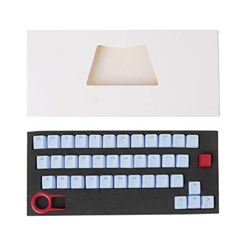 siwetg PBT Tastenkappen mit 37 Tasten für mechanische Tastatur, durchscheinend, mit 37 Tasten, PBT Wortdurchführung