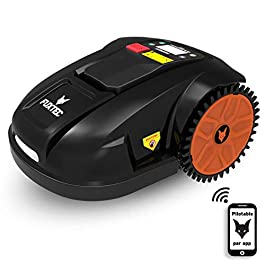 Fuxtec Robot Tondeuse Electrique FX-RB144 pour Surface Jusque 1500m² – Fonctionne sous la Pluie, Poids 16k kg, Protection Anti-vol, Pilotage Auto ou Manuel, par App(iOS&Android) par WiFi