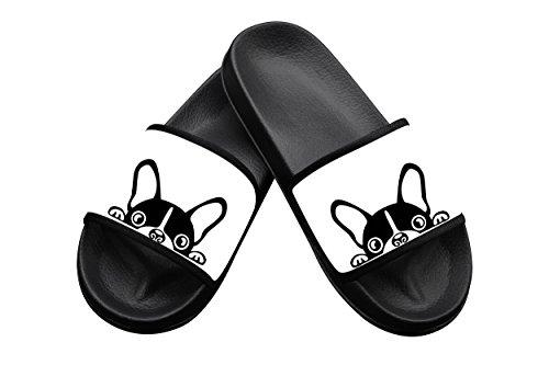 Boston Terrier Summer Slippers Pool Slider Sandals for Kids Indoor & Outdoor 1 B(M) US Big kid