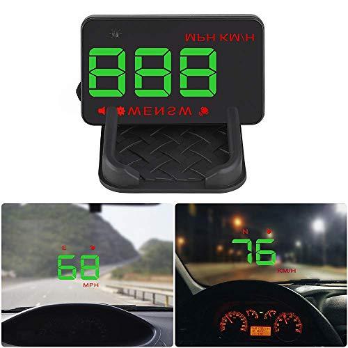 Car Head Up Display HUD Velocímetro Digital Inteligente Proyector de Parabrisas Actualización de GPS para Mercedes Benz Vito Odómetro Pantalla Reflectante HD OBD2 OBD RPM KMH USB mph