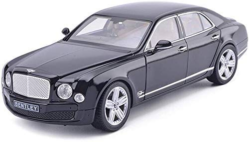 zvcv Model Car, Kids Car Toys for Boys Girls 1/18 Scale Bentley Mulsanne Alloy Model Car Die Cast Miniature Gifts Indoor Outdoor Games (Color : Black)