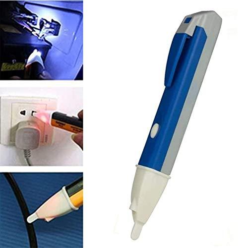 Berührungsloses Elektroskop mit Digitaler Abtastung, Spannungsprüfer für Elektrische Zäune, Elektrischer Teststift, Steckdose Tester Stromspannung Detektor Stift, Volt Stick mit LED Licht (Blau)