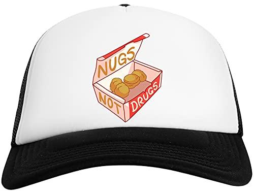 Nugs No Drogas Gorra De Béisbol para Hombre y Mujer con Malla Trasera Mens Womens Baseball Cap Mesh Back