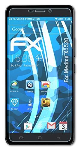 atFolix Schutzfolie kompatibel mit Medion X5520 Folie, ultraklare FX Bildschirmschutzfolie (3X)