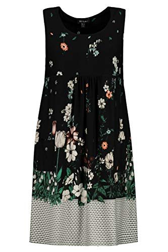 Ulla Popken Damen große Größen Jersey-Kleid schwarz 46/48 747521 10-46+