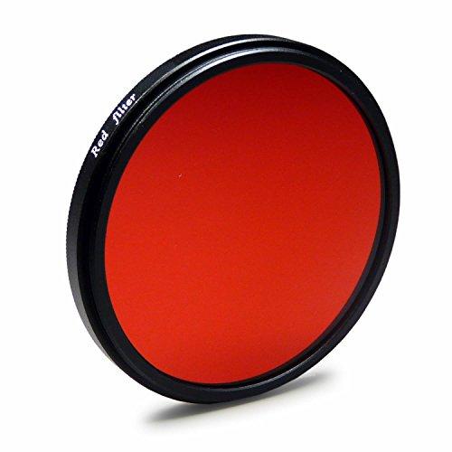 Farbfilter rot 67 mm kompatibel mit Canon EOS 40D | 5D Mark III - Nikon D5100 | D7000 - Olympus E-30 und weitere + High-Tech Microfaser Reinigungstuch